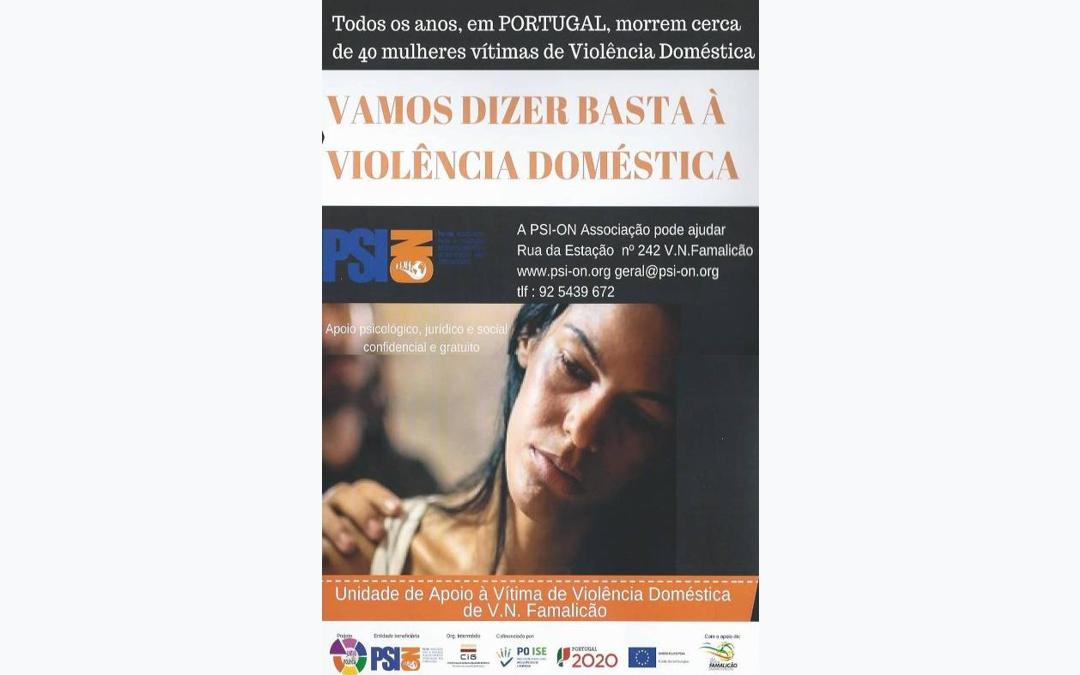 Vamos dizer basta à violência doméstica