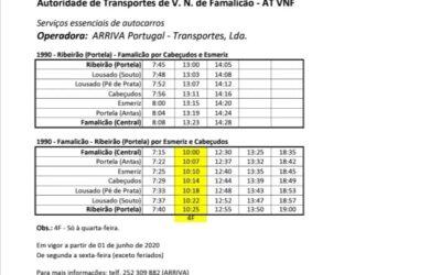 Transportes Públicos desde 01 de junho