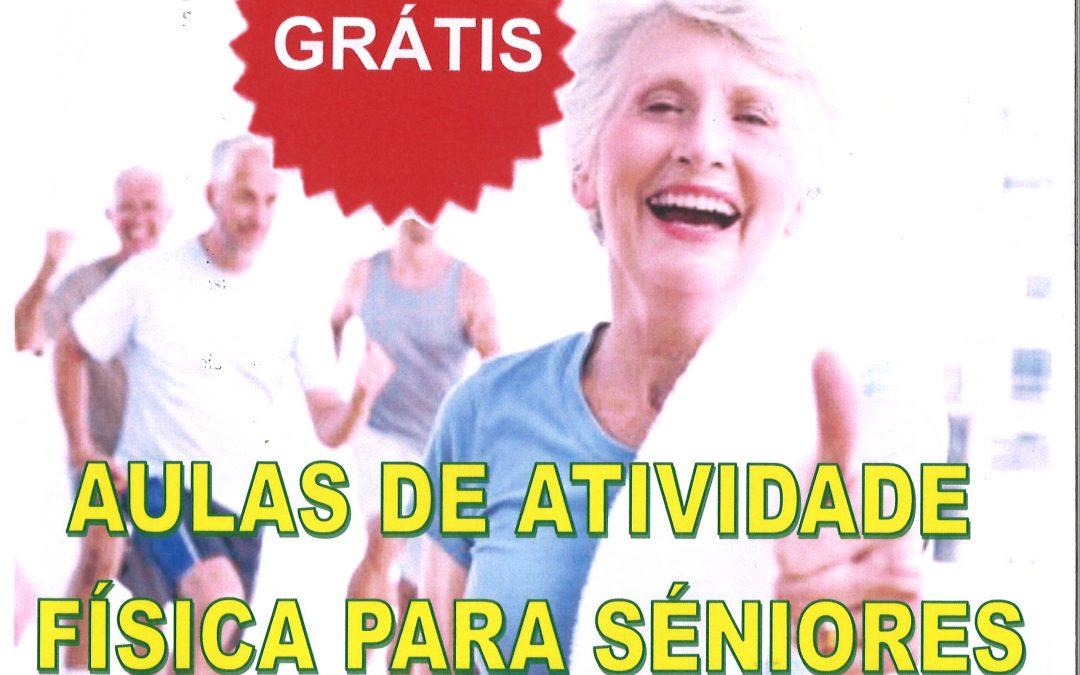 Aulas de atividade física para seniores
