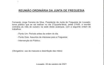 Reunião Ordinária da Junta de Freguesia